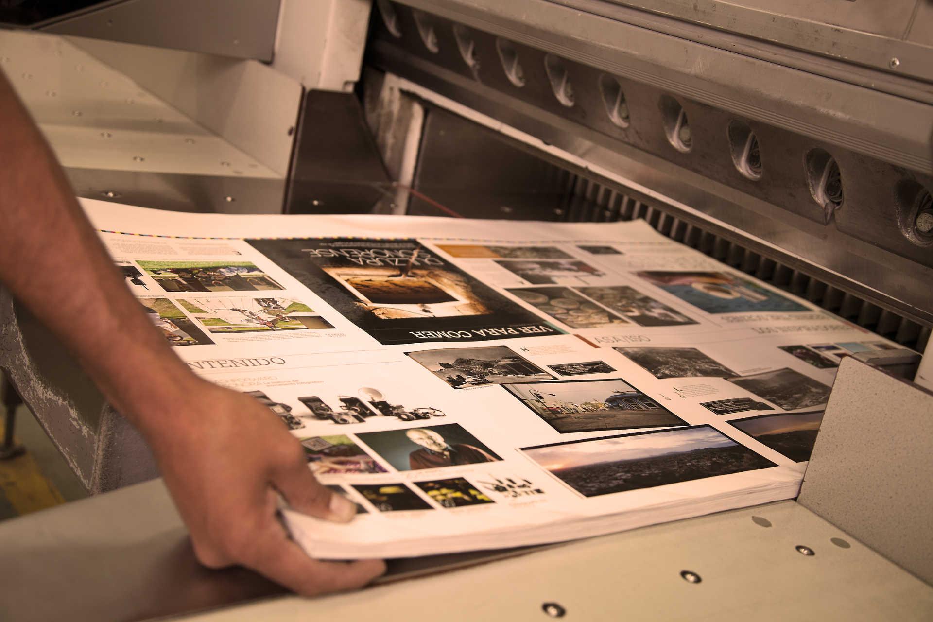 Fase di stampa e rifinitura