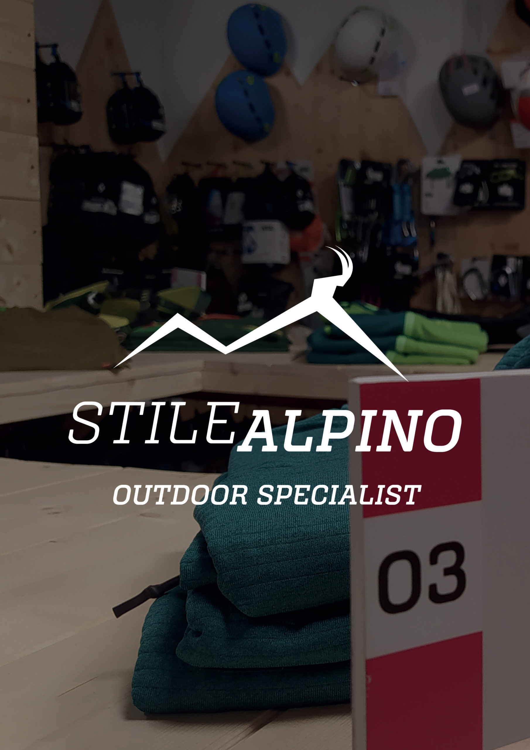 Immagine di copertina del progetto Stile Alpino, negozio di riferimento per le attività sportive Outdoor